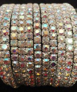 Bracelet 2 - Bracelets 11 lignes en pierres scintillantes.