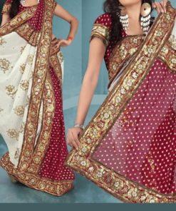 Sari 7 - Sari avec plis déjà faits