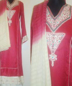 Shuridar 5 - Ensemble trois pièces comprenant la tunique (manches longues), le pantalon et le châle.