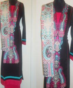 Shuridar 6 - Ensemble trois pièces comprenant la tunique (manches longues), le pantalon et le châle.